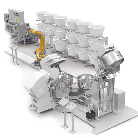 Automated Mixing System Automatized System For Dough